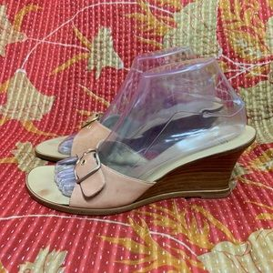 Coach Heels Wedges Sandals DARYN Beige 8.5 B